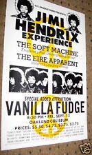 Jimi Hendrix 1968 2 Oakland Colis Poster card Stock