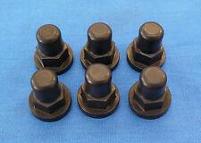 HONDA TRX250R TRX 250R BILLET CYLINDER HEAD NUT NUTS ENGINE BLACK ACORN 6PK BDT