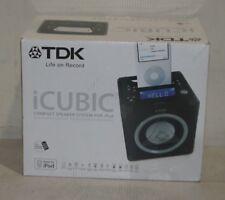 TDK iCube iPod/iPhone with Alarm Clock Radio ADS-01BLK