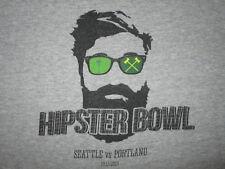Hipster Bowl Seattle vs Portland T Shirt Soccer Sounders Timbers Beard Mens Med