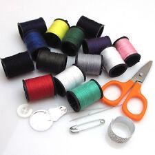New Scissor Measure Threader Needle Thread Tape Thimble Storage Box Sewing Kit
