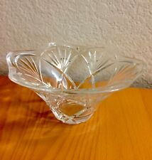 """Marquis by Waterford 8"""" Crystal Cut Bowl. Flower shape."""