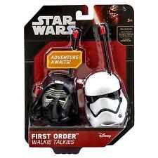 NEW OFFICIAL Disney Star Wars First Order Kylo Ren+Stormtrooper Walkie Talkies