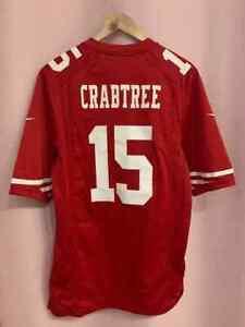 NFL SAN FRANCISCO 49ERS AMERICAN FOOTBALL SHIRT JERSEY NIKE MICHAEL CRABTREE #15