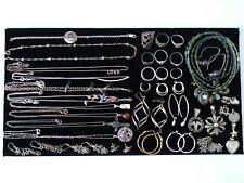 Vtg 925 Sterling Silver HUGE Jewelry Lot 155.7g Bracelet Earrings Ring Necklaces