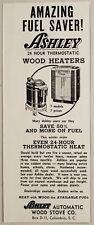 1953 Print Ad Ashley Automatic Wood Stove Heaters Columbia,South Carolina