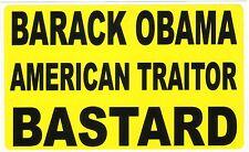 Anti Obama Traitor Islam ISIS Terrorists Islamic Radicals Muslim Moslem Sticker