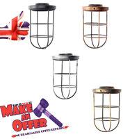 Abat Jour Vintage Plafonnier Lampe Long Forme Cage Café BAR Lampe