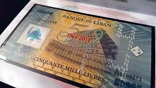 D/99 0000273 >> 3 DIGITS REPLACEMENT << FDC 50000 LL 2014 Polymer Bill Lebanon