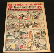 1951 Sunday Mirror Weekly Comic Section November 18th (Vf) Superman Action