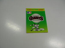 1990 Fleer Baseball Logo Stickers San Francisco Giants Baseball Quiz on back