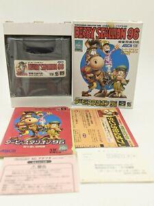 """Derby Stallion 96 Nintendo SENS Super Famicom """"SFC"""" original box + Manual 1996"""