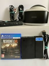 Sony PlayStation 4 VR PS VR Bundle - Headset - Camera All Cables - Resident Evil