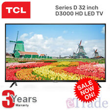 New TCL 32D3000 32 Inch 81cm HD LED LCD TV - 3 Year Warranty