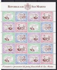 San Marino 1997 Mf 1570-73 120 anniversario 1 francobollo di San Marino mnh