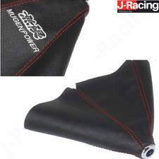 Universal Leather Pvc Red Stitch Gear Shift Gaiter Boot Knob Mugen Fits Honda