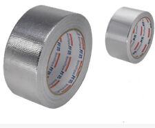 Fiberglass Cloth Reinforced Aluminium Foil Tape Heating Ventilation Sealing 8CM