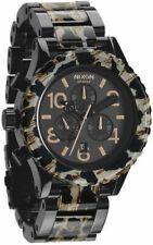 Nixon A0371153 42-20 Chronograph All Black Leopard Mens Womens Unisex Watch