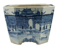 Wonderful 19thC Chinese Porcelain Planter w/ Scene