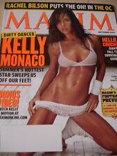 september 2005 Maxim #93 Kelly Monaco sexy cover topless + Nina Kaczrowski