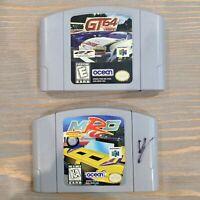 GT 64 & MRC Multi Rcing Championship Nintendo N64 - Lot of 2 Video Game Carts