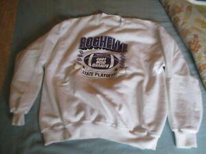 Vintage Rochelle  2001 NCIC Champs Long Sleeve White Sweatshirt NEW