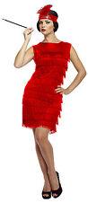 Ladies Sexy Black 1920s Fringed Flapper Girl Charleston Fancy Dress Costume
