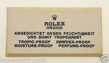 VINTAGE ROLEX ORCHID - SIGN / SCHILD OFFICAL AGENT - ROHSEIDE - 1960er