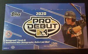 Topps 2020 Pro Debut Factory Sealed Hobby Box Baseball Bohm Franco Vaughn Adell.