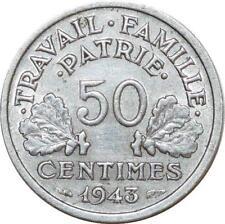 O8956 50 Centimes Françisque Bazor 1943 B Beaumont le Roger TTB+