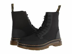 Men's Shoes Dr. Martens COMBS 8 Eye Nylon Combat Boots 16607001 BLACK