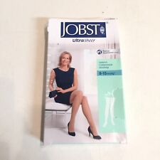 Jobst Ultrasheer Silky Beige Compression Stockings Thigh CT 8-15mmHg Large