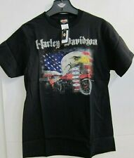 Harley-Davidson shirt Eagle & flag USA Rider Biker Noir Neuf! Taille S