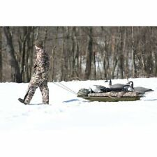 "Deer Drag Sled Snow 65"" Winter Heavy Duty Plastic Board Hunting Large Capacity"