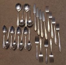 """National Silver Double Tested 1930 """"Princess Royal"""" Silverplate Set/Serv. for 4"""