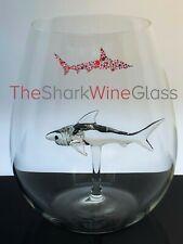The Original 3D Stemless Shark Wine Glass - Handmade Crystal