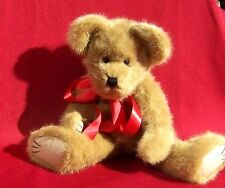 "Boyds J.B. Bean Bear Collectible Retired Jointed Bear Red Bow 16"" #1364 1990-00"