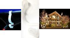 20 Giant Gutter Hooks Christmas Icicle Fairy LED Rope Light String Holder Clips