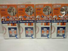 4 Packs Fighting Illini Illinois College Sports Peel & Stick Wall Decals