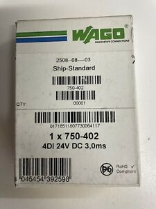 WAGO 750-402 4DI 24V DC 3,0ms