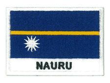 Ecusson patche à coudre patch insigne blason drapeau NAURU 70 x 45 mm brodé