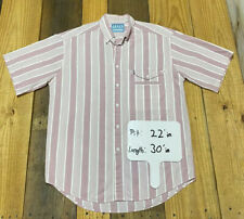 Rare Vtg Levi's San Francisco Mens M Pink Striped Button down Shirt Medium