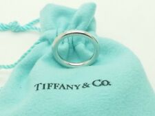 Tiffany & Co Platinum 950  3 mm Wedding Band Ring Size 4.75 Pouch