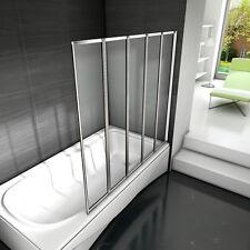 120x140 Badewannenaufsatz Faltwand Trennwand  Duschwand Duschabtrennung 5-teilig