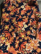 LuLaRoe OS Leggings. Peachy Floral New Super Soft.