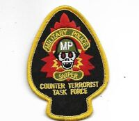 ARMY MILITARY POLICE SNIPER COUNTER TERRORIST TASK FORCE EMBROIDERED MP  PATCH