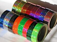 21 Rolls Color Glittering Tapes, 2 Inch x 25 ft, Holographic Sequins Hologlitter