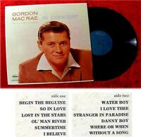 LP Gordon MacRae In Concert