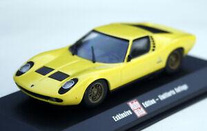 "Lamborghini Miura Bj. 1966-1972,Yellow,Minichamps-Sondermodell "" Car Image "" 1:"