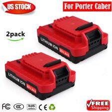 2x for Porter Cable PCC685L 20V Max Li-Ion Battery PCC600 PCC682L PCC680L PCC670